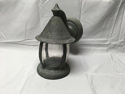 Vtg Heavy Bronze Brass Arts Crafts Mission Porch Sconce Light Fixture 602-17E
