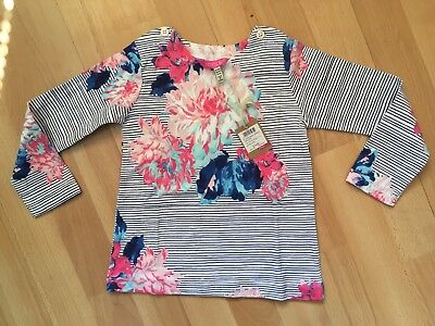 BNWT Joules Baby Girls Harbour Stripe Floral Top 18-24 Months