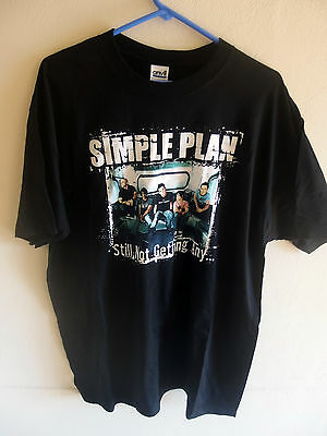Simple Plan Still Not Getting Any Men's T-Shirt, Size XL, Anvil, NOS & OOP