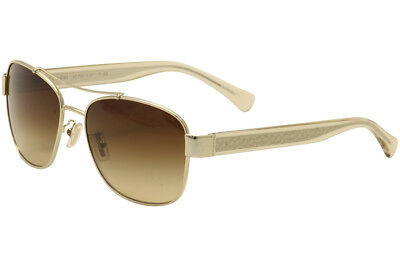 45738a807690 ... coupon for coach womens hc7064 hc 7064 9265 13 gold crystal brown pilot  sunglasses 56mm 8eb8e