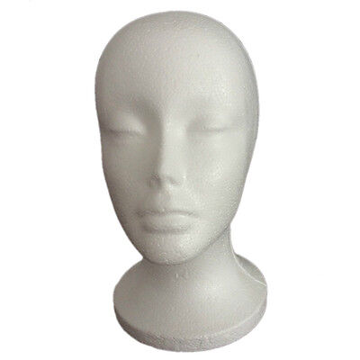 1PC 50CM STYROFOAM FOAM Female MANNEQUIN MANIKIN head display wig hat glasses