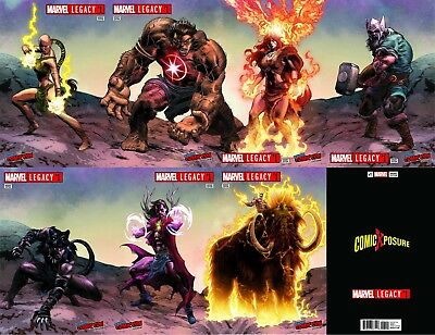 Marvel Legacy 1 Nycc Comicxposure Mike Deodato 7 Book Connecting Cover Set Nm