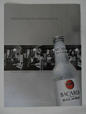 2002 Print Ad Bacardi Rum ~ Silver Your Night Just Got Interesting