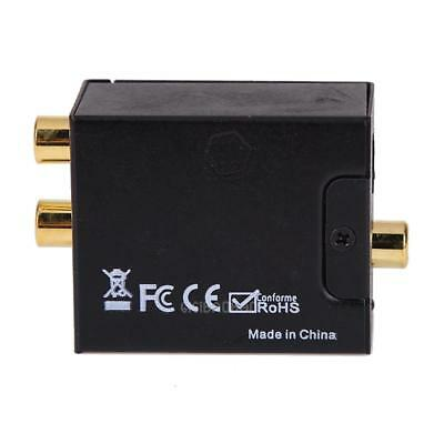 Digital Optical Coax Coaxial Toslink to Analog RCA L/R Converter Adapter #gib