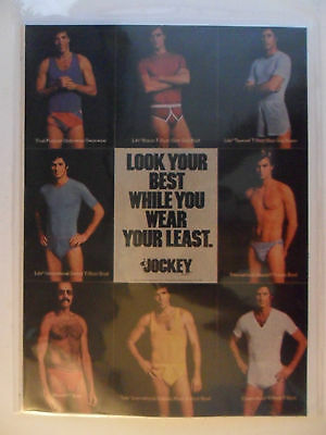 1976 Print Ad Jockey Men's Underwear Briefs ~ Look Your Best Wear Your Least