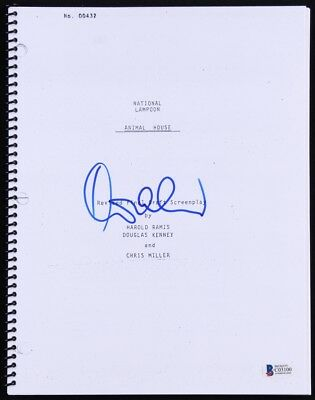 DONALD SUTHERLAND SIGNED NATIONAL LAMPOON ANIMAL HOUSE FILM SCRIPT w/BECKETT COA