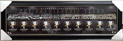 Richmond Tigers Premiership Years Print Framed - Afl Premiers History
