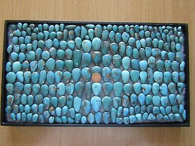 Nacozari Turquoise 3410 carats Cabochons Wholesale Lot Blue Iron Pyrite cabs