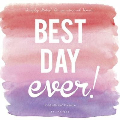 Best Day Ever 2018 Mini Wall Calendar by Graphique, NEW, Free Shipping