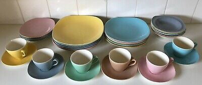 Vintage J & G Meakin England South Seas Dinner Set For 4 Pastel 1950 PU Only3054