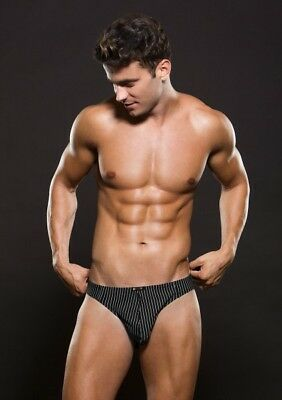 Baci-Envy Thong With Pinstripe L/xl Black L/xl
