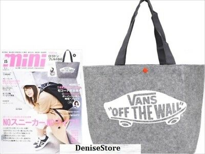 NEW VANS Grey Special Logo Don Felt Lunch Tote Hand BAG (from Japan Magazine)