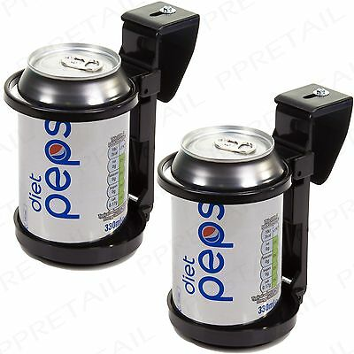2x UNIVERSAL CAR/VAN CUP DOOR MOUNT Hot/Cold Drink Can/Bottle Holder Storage
