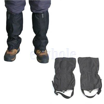 Waterproof Leg Gaiters Shoes Cover Long Legging nylon hunting hiking camping WS