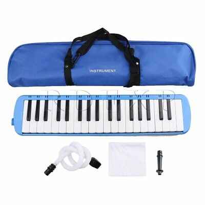 Plastic Mouthblown Piano 37 Keys Melodica for Beginner Student 5 Colors to Pick