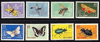 Romania 1964 Insects Complete Set of Stamps MNH