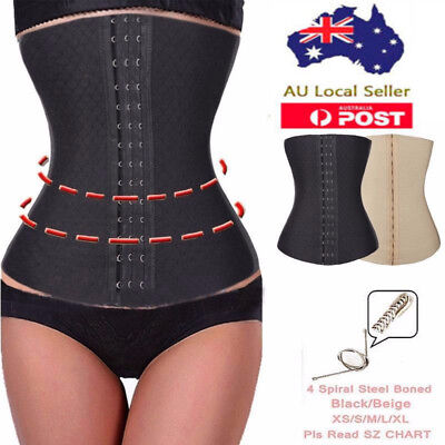 Women Steel Boned Body Shaper Slimming Waist Trainer Cincher Tummy Belt Corset