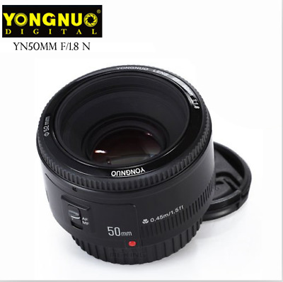 Yongnuo EF 50mm F/1.8 Auto Focus AF/MF Prime Standard Lens for Nikon EOS Camera