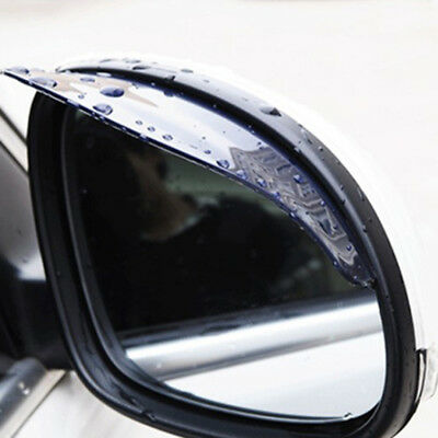 2 Pcs Car Rear View Wing Mirror Black Sun Visor Shield Rain Board Eyebrow Guard