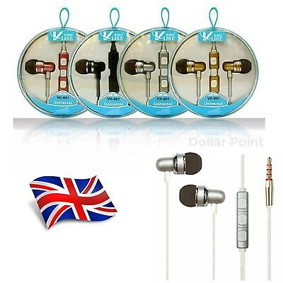In Ear Earphones Headphone Noise Isolating Handsfree With Remote, Mic Mp3 4 5