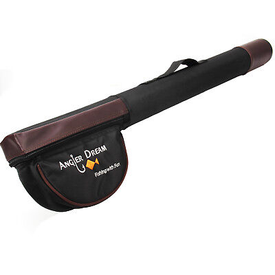 Triangle Cordura Fly Fishing Rod Tube 77 / 65cm Black and Brown Fly Rod Case