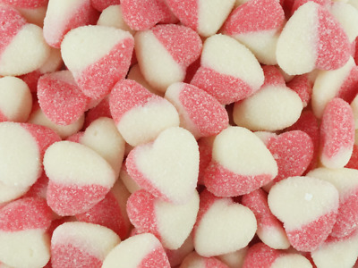 Sour Hearts Red 1kg Bag lollies