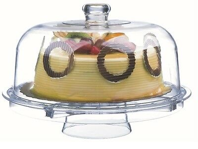 Rammento Multifunctional 5 in 1 Cake Stand And Dome ,Cake Dome, Salad Punch Bowl