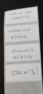 100pcs of White Food Label Stickers 10cm x 3cm (in a long strip) Free Postage