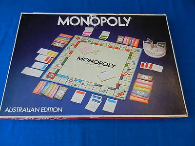 MONOPOLY Australian Edition Vintage Board Game Parker Brothers 1975