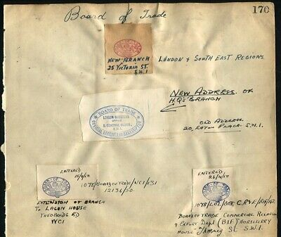 Gb 1950 Board Of Trade Official Mail Harold Wilson Attlee Government Pm