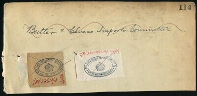 Great Britain Official Wwi Butter Cheese Imports Dairy Agriculture 1918