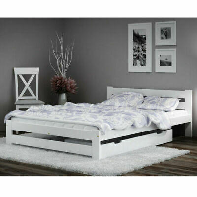 bett 160x200 kiefer mit schubladen doppelbett funktionsbett jugendbett neu pinea eur 389 00. Black Bedroom Furniture Sets. Home Design Ideas