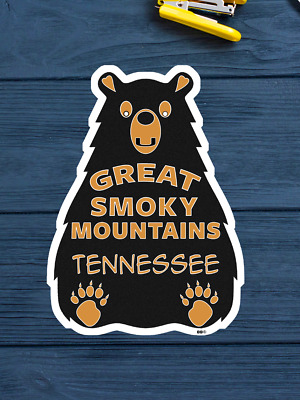 """Great Smoky Mountains National Park Bear Decal Sticker Tennessee  3.75"""" X 2.75"""""""