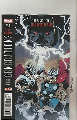 Marvel Comics Generations Mighty Thor Unworthy Thor #1 October 2017 1St Print Nm