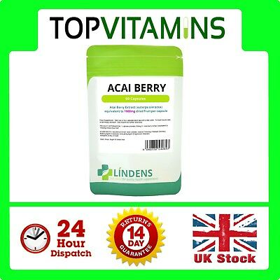 Acai Berry 1000mg 60 Capsules ✰ Weight Fat Loss Slimming Diet Powder Tablets ✰