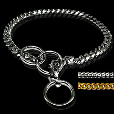 Heavy Duty Dog Metal Choke/Check Chain Collars Pet Show Collar Training Slip