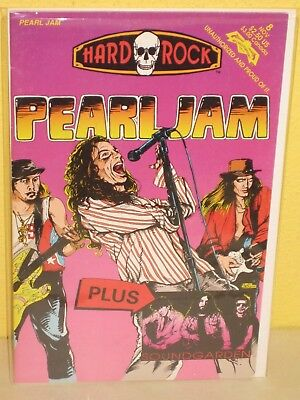 PEARL JAM: Hard Rock Comics #8 (REVOLUTIONARY, 1991) Unauth Bio VF - Soundgarden