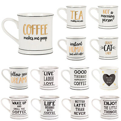 SASS & BELLE |  Ceramic COFFEE TEA Mug | Home Kitchen NOVELTY SAYING CUPS
