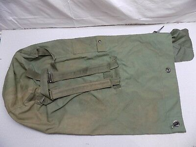 "US ARMY Green 36"" Duffel Sea Jump Bag Backpack Double Strap GENUINE ISSUE Duffle"