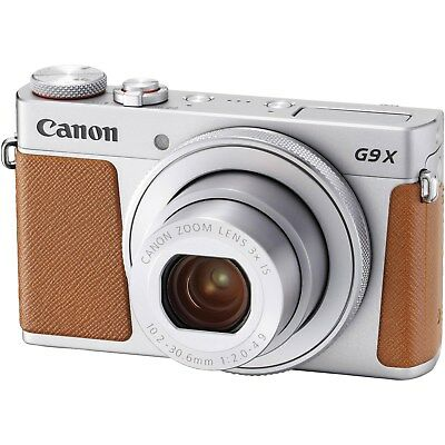 Canon PowerShot G9 X Mark II 20.1MP Full HD 1080p Wi-Fi IS Digital Camera Silver