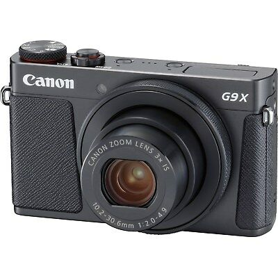 Canon PowerShot G9 X Mark II 20.1MP Full HD 1080p Wi-Fi IS Digital Camera -Black