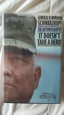 It Doesn't Take a Hero US Army Gen. H. Norman Schwarzkopf Signed Book