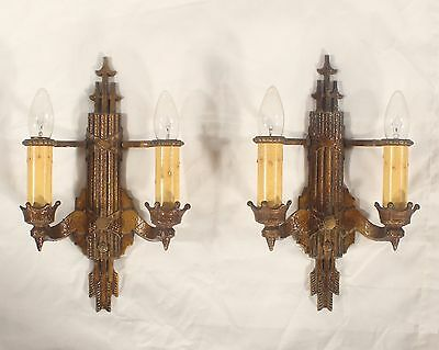 Pair of Antique American Art Deco Sconces circa 1920's