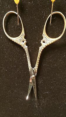 Scissors Antique Ornate Sewing/ Manicure GERMANY A.J.Jordan Cutlery Co 2 tone(2)