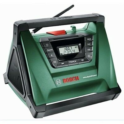 Bosch PRA Multipower Portable AM/FM Radio with MP3 Playback, Bluetooth Pairing
