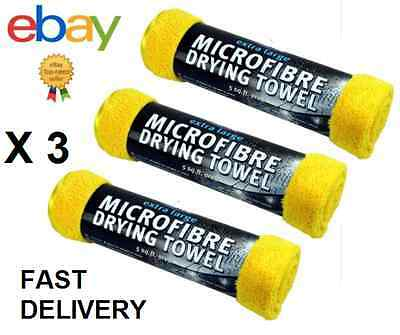 3 X Kent Extra Large Microfibre Drying Towel Valeting Cleaning Cloth - 5 Sq Ft