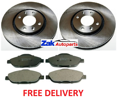 Peugeot 307 SW 2.0 Estate 175bhp Front Brake Pads /& Discs 302mm Vented