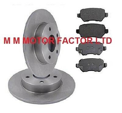 Vauxhall Astra Mk5 H (2004-) ALL MODELS REAR SOLID BRAKE DISCS AND PADS SET
