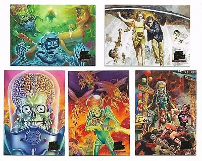 2013 Topps MARS ATTACKS Invasion Masterpieces Complete Set Cards 1-5