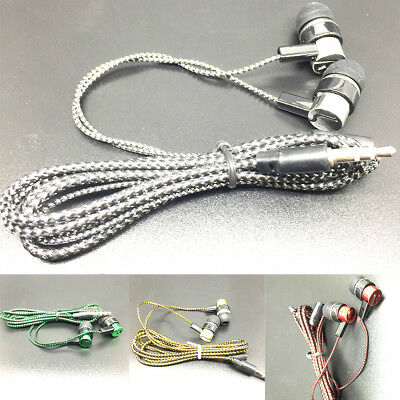 3.5mm In-Ear Sport Earphones Bass Headphone Stereo Headset Earbuds Braided Line